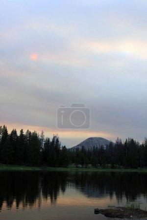 Amazing Bald Mountain reflection in an alpine lake, Uinta Mountains, Utah, USA