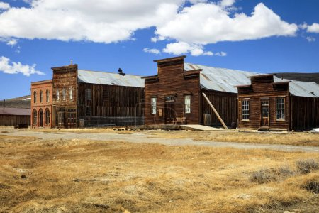 Old buildings in an abandoned wild west ghost town, California, USA