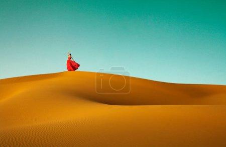 Photo pour Danse au Sahara o - image libre de droit