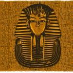 King tutankhamen egyptian death mask...