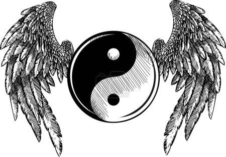 Illustration pour Religion, Culture Tao Zen Ying Yang - image libre de droit