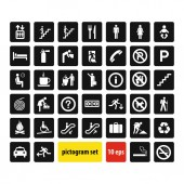 pictogram set vector illustration