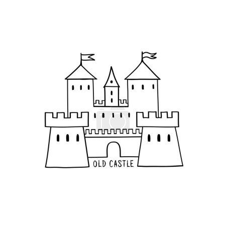 Castle icon isolated on white background