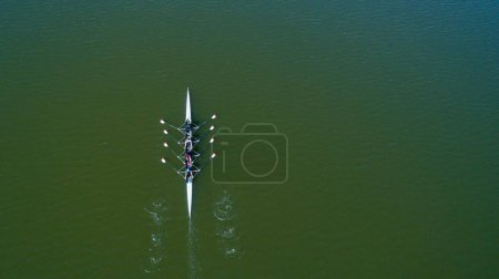 Aerial view of Rower Team