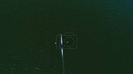 Aerial view of Rowing