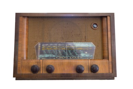 Old radio on a white background...