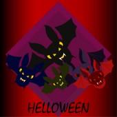"Постер, картина, фотообои ""Летучие мыши Хэллоуин, Хэллоуин плакат, векторные иллюстрации"""