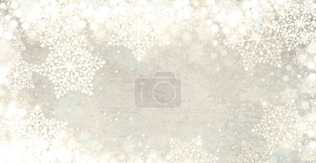 Christmas background.  White,  winter, snowflakes background for Christmas design.