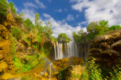 Amazing view of Yerkopru waterfall, near Konya in Turkey