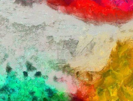 Photo pour Art fond d'huile, motif de conception créative, peinture brushstrokes texture, fond d'écran HD, éclaboussures colorées et éléments artistiques texturés - image libre de droit