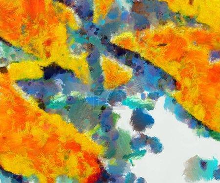 Photo pour Texture grunge conçue pour des idées créatives. Macro coups de pinceau d'huile. Résumé close up structure background. Papier peint HD coloré. Modèle de conception graphique simple . - image libre de droit