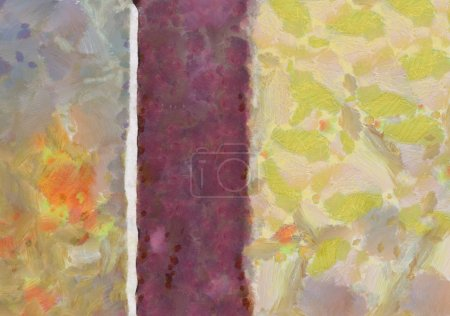 Photo for Close up oil paint abstract background. Art textured brushstrokes in macro. Part of painting. Old style artwork. Dirty watercolor texture. Modern pattern. Chaotic splashes. Multi-colors design. - Royalty Free Image