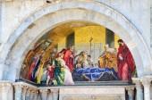 """Постер, картина, фотообои """"Подробная информация о Святой знаки базилика, мозаика фрагменты дворца Дожей в Венеции Италия"""""""