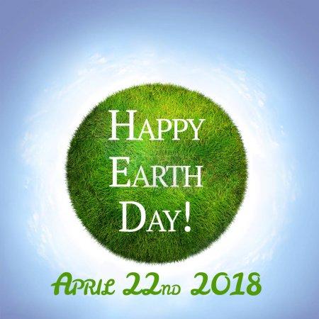 Photo pour La terre écologique verte. Jour heureux de terre - image libre de droit