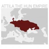 vector map of the Attila the hun empire