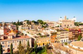 Rome cityscape urban skyline view from above with lots of history, arts and architecture