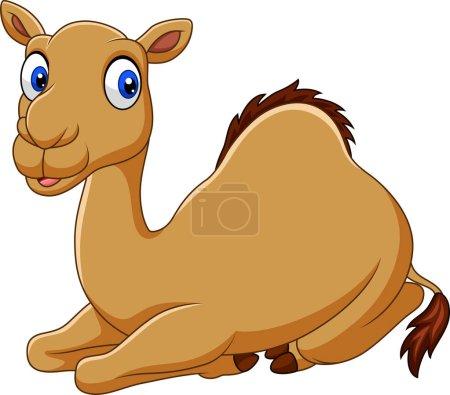 Illustration pour Illustration vectorielle de drôles de drôles de chameaux assis - image libre de droit