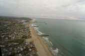 Aerial helicopter shot of Ventura