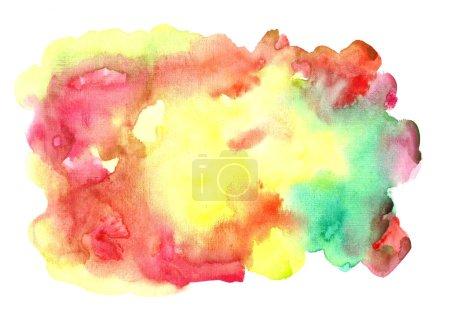 Foto de Colorful watercolor background. Bright background painted in watercolor. - Imagen libre de derechos