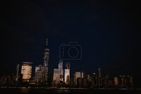 Photo for View on Manhattan, Downtown at evening. - Royalty Free Image