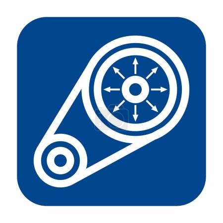 Vector flat design icon of vibration analysis.