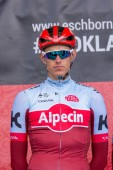 ESCHBORN, GERMANY - MAY 1st 2018: Nils Politt (Team Katusha Alpecin) at Eschborn-Frankfurt cycling race