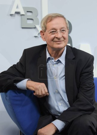 Frankfurt, Germany. 12th Oct, 2017. Peter Nadas (* 1942), hungarian author, at 'Blaues Sofa', Frankfurt Bookfair / Buchmesse Frankfurt 2017