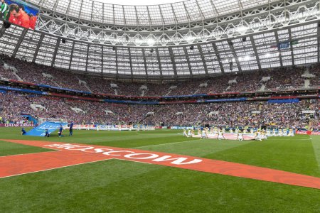 MOSCOW, RUSSIA - June 14, 2018: opening game between Russia and Saudi Arabia at Luzhniki Stadium
