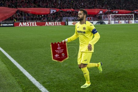 MOSCOW, RUSSIA - , 04.10.2018: The UEFA Europa League game at Spartak Stadium, Spartak (Moscow) - Villarreal CF.