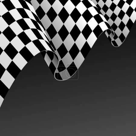 Realistic Detailed 3d Checkered Racing