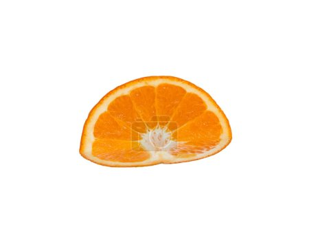 Photo pour Gros plan de la tranche d'orange fraîche isolé sur blanc - image libre de droit