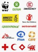 MILAN ITALY - DECEMBER 17 2018: Vector set collection of the most popular non governmental organizations logos