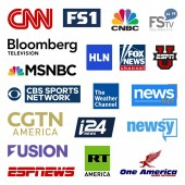 United states cable television news networks high quality vector logo collection