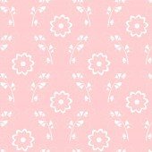 Trendy modern damask floral pattern white hand drawn elements on pastel pink background Vector seamless pattern tile in two colors
