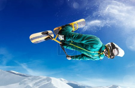 Photo for Snow scoot. Snow bike. Extreme winter sports. - Royalty Free Image