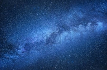 Photo for Milky Way. Night sky with stars as a background. Natural compositon at the night time. Milky way on the dark sky at the night time. - Royalty Free Image