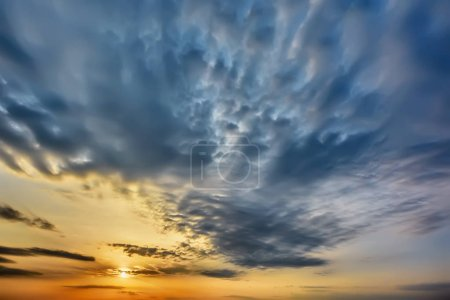 Photo for Sky with clouds at sunset. - Royalty Free Image