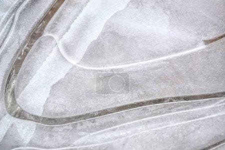 Photo pour Modèles sur la glace dans l'étang . - image libre de droit