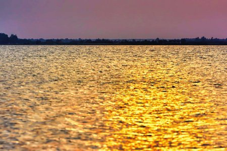 Photo for Golden sunset over the lake. - Royalty Free Image