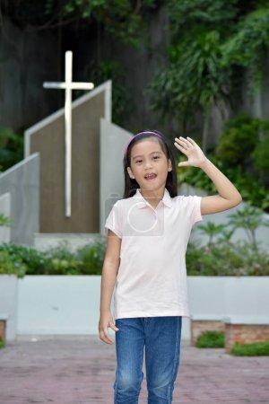 Amical asiatique personne à l'église