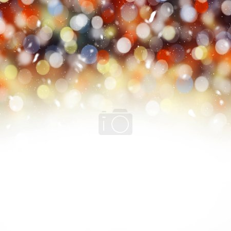 Colorful bokeh lights. Bokeh lights background. Holiday card background.