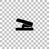 Hole puncher icon flat