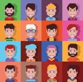 Set of high quality avatars 04