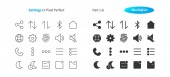 Settings UI Pixel Perfect Well-crafted Vector Thin Line And Solid Icons 30 2x Grid for Web Graphics and Apps Simple Minimal Pictogram Part 1-6