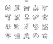 World Press Freedom Day Well-crafted Pixel Perfect Vector Thin Line Icons 30 2x Grid for Web Graphics and Apps Simple Minimal Pictogram