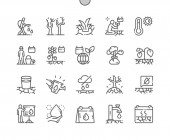 World Day to Combat Desertification and Drought Well-crafted Pixel Perfect Vector Thin Line Icons 30 2x Grid for Web Graphics and Apps Simple Minimal Pictogram