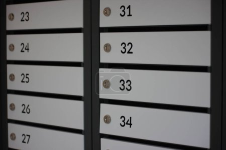 numbering boxes for mail separate