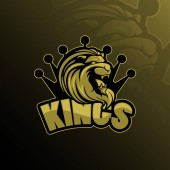 lion king mascot logo design vector with modern illustration concept style for badge emblem and tshirt printing lion king  illustration with a crown on the head
