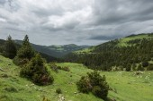 Beautiful landscape with a view of the mountains. Eastern Pyrenees, Spain.