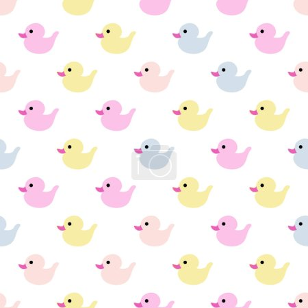 Illustration for Children's seamless pattern design. Vector background. Rubber duck. - Royalty Free Image